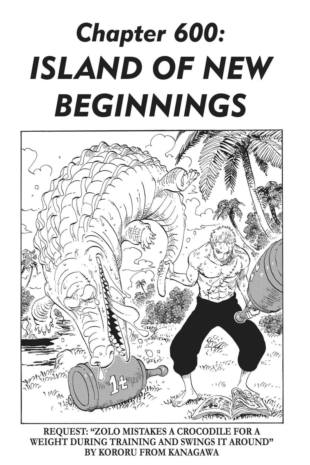 One Piece, Chapter 600 image 001